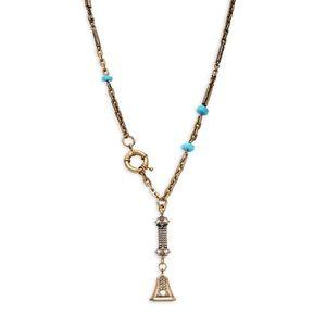 DANNIJO Antique Gold Vintage Eliza Lariat Necklace